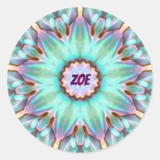 ~ för Fractal för ZOE ~ personifierad Paua Runt Klistermärke