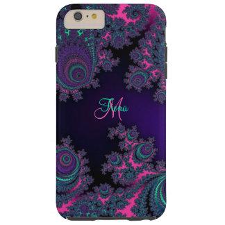 För FractaliPhone 6 för personlig purpurfärgat Tough iPhone 6 Plus Skal