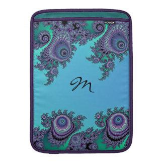 För Fractalkrusidull för blått gröna fodral för Sleeve För MacBook Air