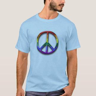 för fredsymbol för regnbåge 3D manar t-skjorta Tröjor