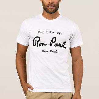 För frihet Ron Paul T Shirt