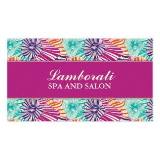 För frisörstylist för blommönster elegant salong set av standard visitkort