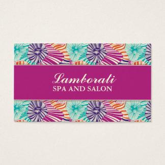 För frisörstylist för blommönster elegant salong visitkort