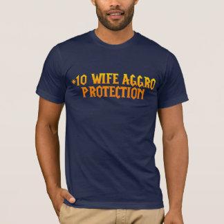 För fruaggro för plus 10 skydd tee shirt
