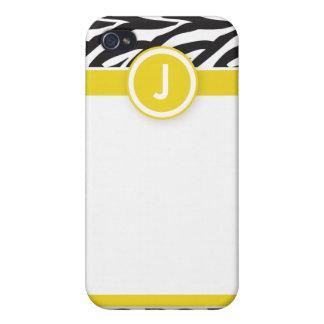 för funkyzebra tryck för iPhone 4 citron/svart för iPhone 4 Fodral