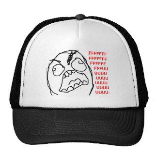 För Fuu Fuuu för ursinnegrabb ilsket ansikte Meme  Trucker Kepsar