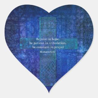 För går vi vid tro, inte vid sikt hjärtformat klistermärke
