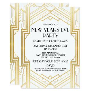 för Gatsby för 20-talnyårsaftoninbjudan guld party 12,7 X 17,8 Cm Inbjudningskort