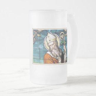 För gåvaöl för saint patrick's day religiösa frostat ölglas