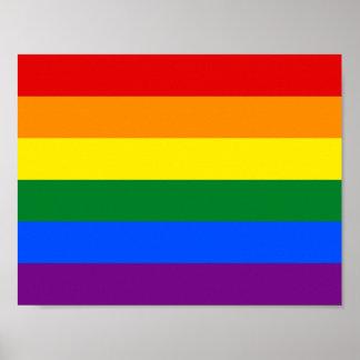 för gay prideregnbåge för 6-Stripe LGBT flagga Poster