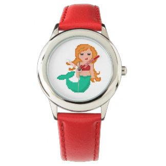 för Geekhav för PIXEL 8Bit sjöjungfru Armbandsur