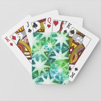 För Gemstonekompass för blått grön Bling för Spel Kort