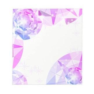 För Gemstonekompass för blått rosa Look för Anteckningsblock