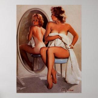 För Gil Elvgren för vintage Retro flicka för pinup Affisch