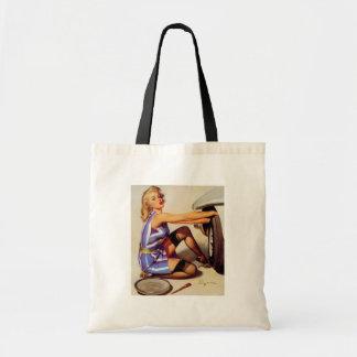 För Gil Elvgren för vintage Retro flicka för pinup Tote Bags