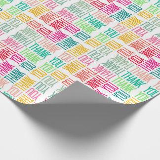 För gillandegåva för färgrikt tack gladlynt sjal presentpapper