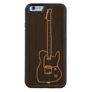 för gitarr-spelare carved körsbär iPhone 6 bumper skal