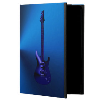 För gitarrMonogram för blått elektriskt fodral för