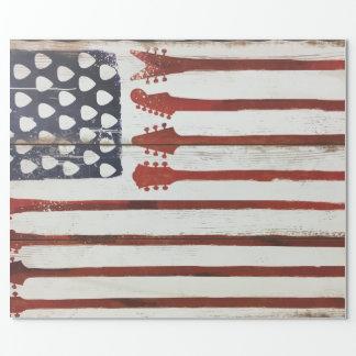 För gitarrmusik för amerikanska flaggan presentpapper