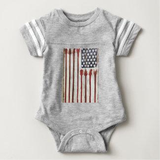 För gitarrmusik för amerikanska flaggan t shirt