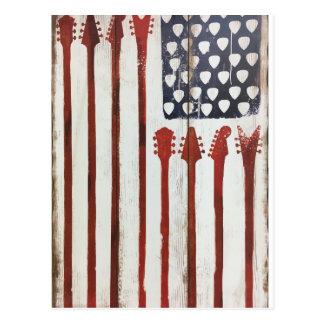 För gitarrmusik för amerikanska flaggan vykort