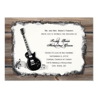 För gitarrmusik för land Wood elektrisk inbjudan