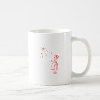 För glimt stjärna lite kaffemugg