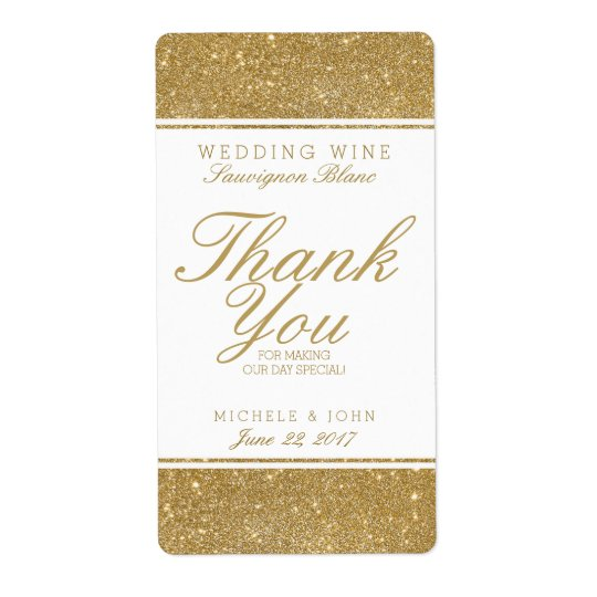 För glitterbröllop för Faux beställnings- etikett Fraktsedel