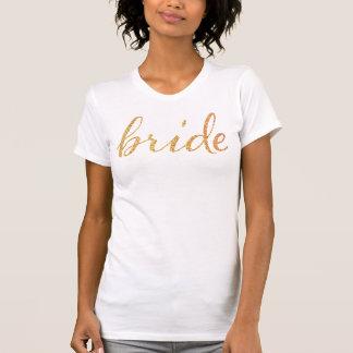 För glitterbrud för Faux guld- t-skjorta/möhippa T Shirts