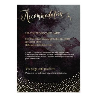 För glittercalligraphy för Glam svart guld- boende 11,4 X 15,9 Cm Inbjudningskort