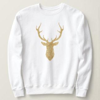 För glitterjul för Faux guld- hjort Tee Shirts