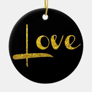 För glitterkärlek för *~* guld- prydnad julgransprydnad keramik