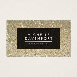 För glitterMakeup för klassiker guld- visitkort