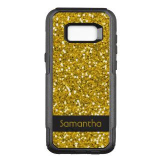 För glittermönster för flott Faux guld- namn OtterBox Commuter Samsung Galaxy S8+ Skal