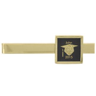 För glitterstudentmössa för personlig guld- pub slipsnål med guldfinish