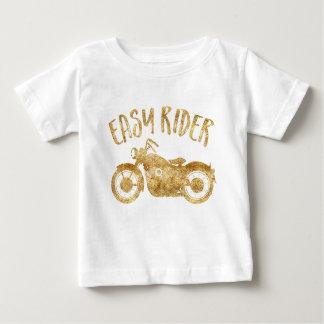 För glittertryck för lätt ryttare guld- T-tröja T-shirt