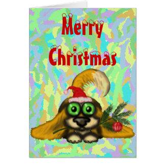För god julkort för gullig hund rolig design