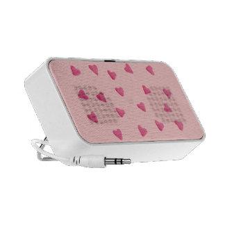 för godishjärtor för raddor rosa högtalare för bak