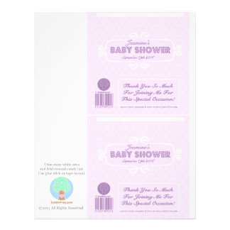 För godispub för baby shower rosa beställnings- om flygblad