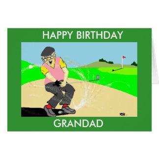 för golfspelfödelsedag för grandad roligt kort