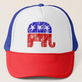 För GOP-elefant för vintage bekymrad hatt Keps