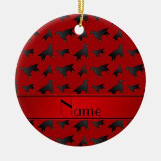 För gordon för personlig kända röda hundar setter julgransprydnad keramik