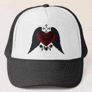 För Goth för svart bevingad hatt hjärta Keps