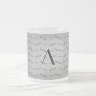 För grå färgmustasch för Monogram skina mönster Kaffe Mugg