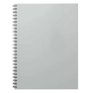 För grå färgtrend för glaciär grå bakgrund för anteckningsbok