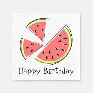 För grattis på födelsedagenservetter för pappersservetter