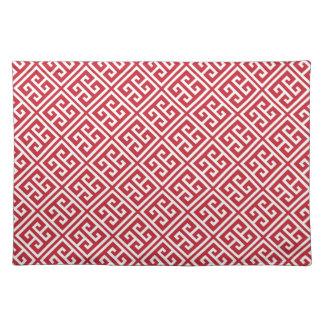 För greknyckel för Cranberry rött mönster Bordstablett