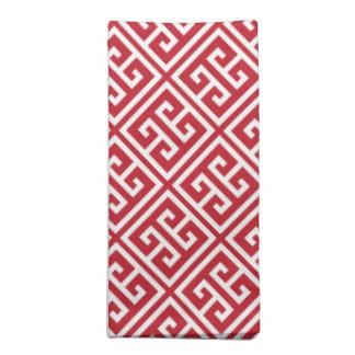 För greknyckel för Cranberry rött mönster Tygservett