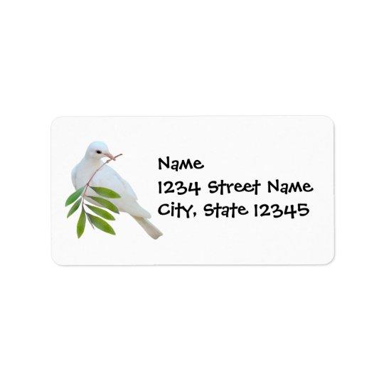 För grenadress för duva olivgrön etikett adressetikett