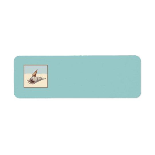 för greysdeppighet för snäckor bruna strand för returadress etikett